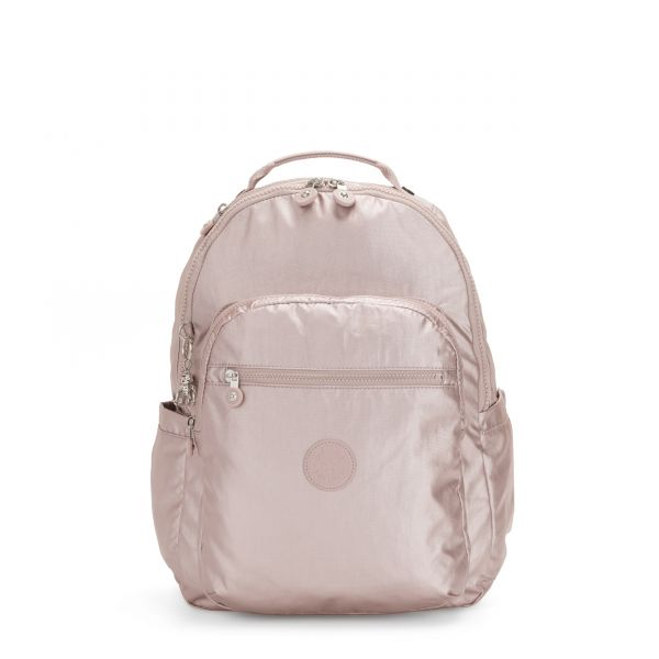 SEOUL Metallic Rose BACKPACKS by Kipling Front