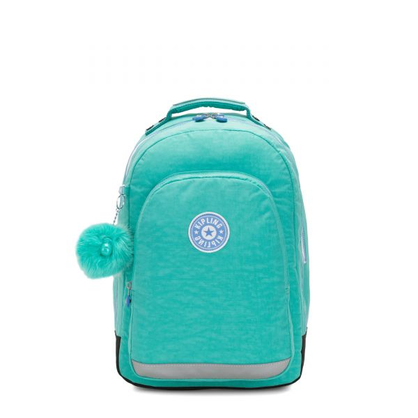 CLASS ROOM Deep Aqua C BACKPACKS by Kipling Front