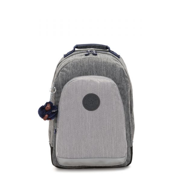 CLASS ROOM Ash Denim Bl BACKPACKS by Kipling Front