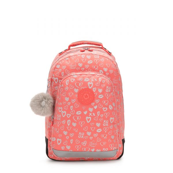 CLASS ROOM Hearty Pink Met BACKPACKS by Kipling Front