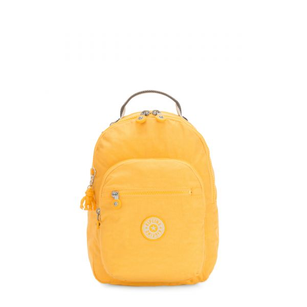 SEOUL S Vivid Yellow BACKPACKS by Kipling Front
