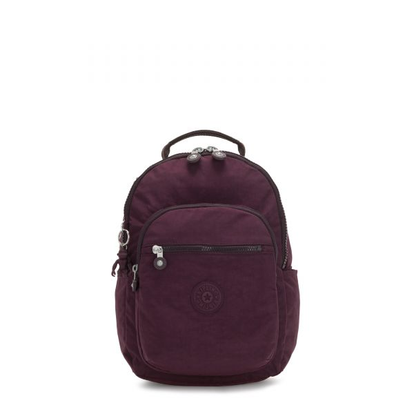 SEOUL S Dark Plum BACKPACKS by Kipling Front