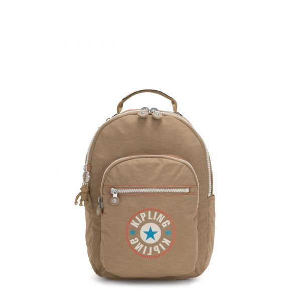 SEOUL S Sand Block BACKPACKS by Kipling Front
