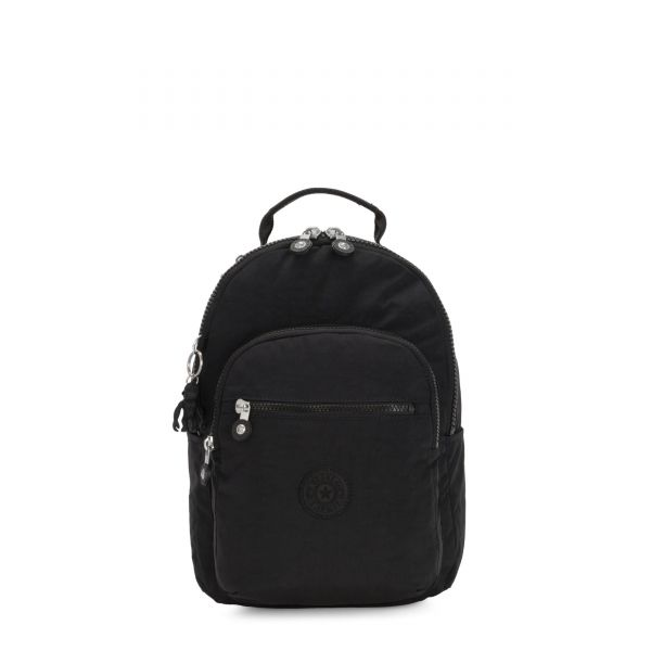 SEOUL S Black Noir BACKPACKS by Kipling Front