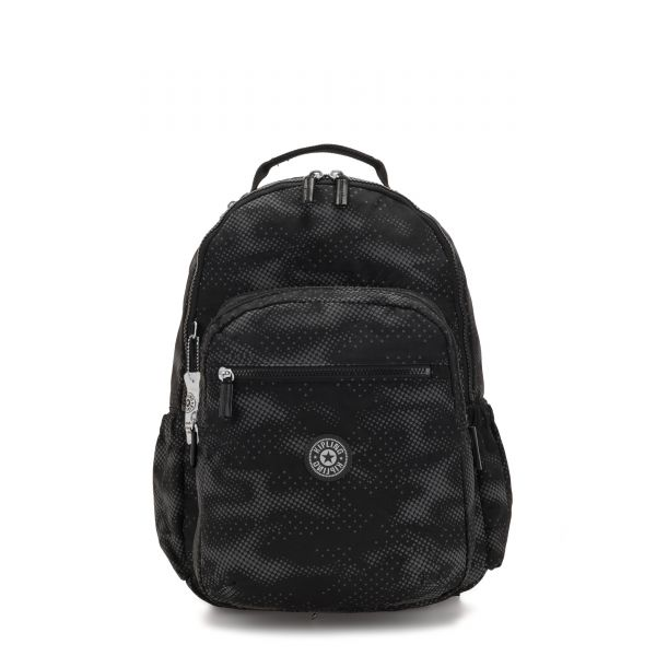 SEOUL 2 IN 1 Camo Black Fl BACKPACKS by Kipling Front