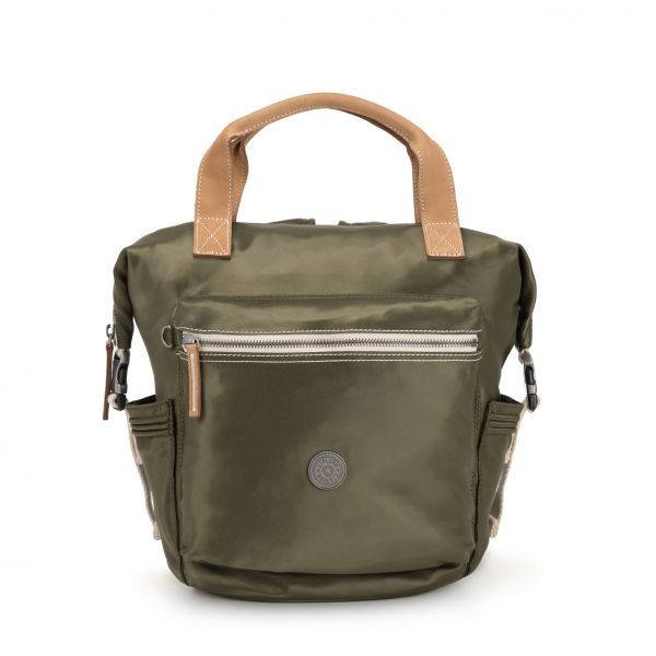 TSUKI S Elevated Green BACKPACKS by Kipling Front