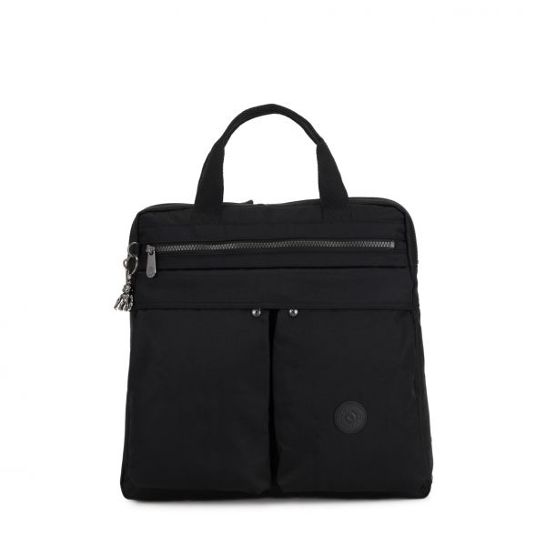 KOMORI S Rich Black BACKPACKS by Kipling Front