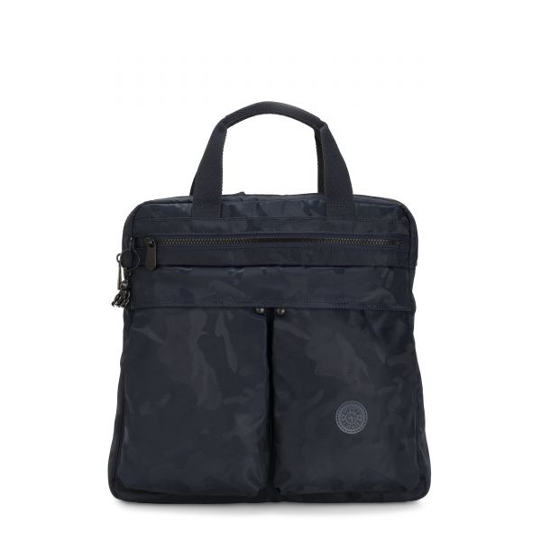 KOMORI S Satin Camo Blue BACKPACKS by Kipling Front