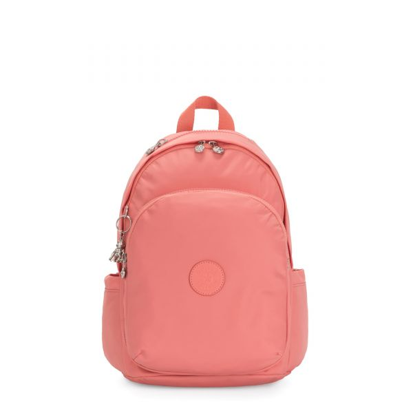 DELIA Coral Pink BACKPACKS by Kipling Front