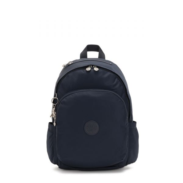 DELIA True Blue Twill BACKPACKS by Kipling Front