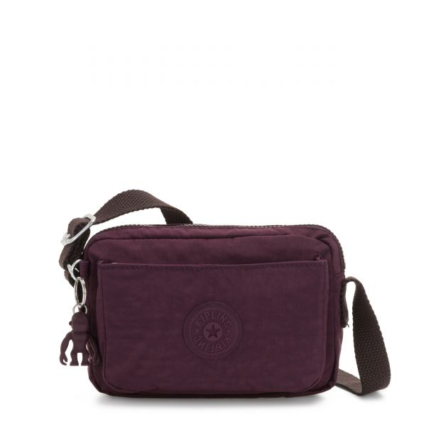 ABANU Dark Plum CROSSBODY by Kipling Front