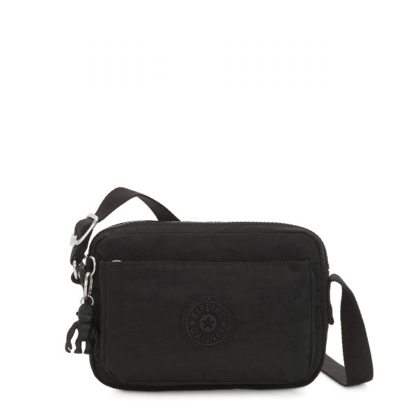 ABANU Black Noir CROSSBODY by Kipling Front