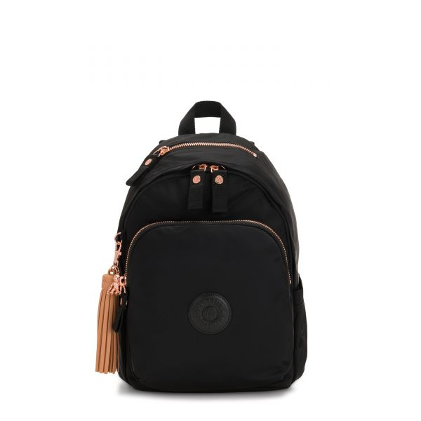 DELIA Rose Black BACKPACKS by Kipling Front