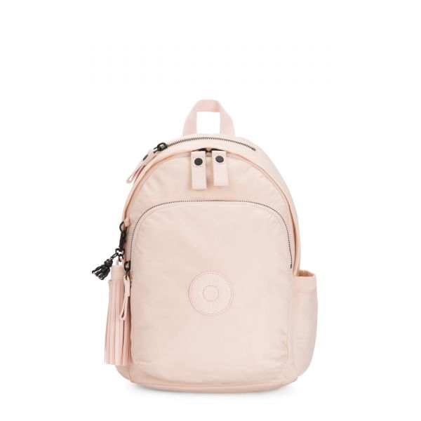 DELIA Feather Pink BACKPACKS by Kipling Front