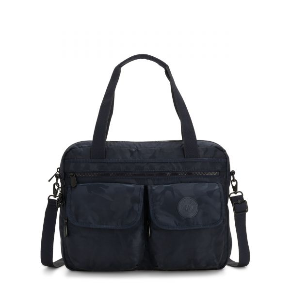 MARIC Satin Camo Blue COMPUTER BAGS by Kipling Front