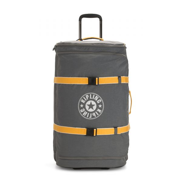 DISTANCE L Dark Carbon Yellow UPRIGHT by Kipling Front