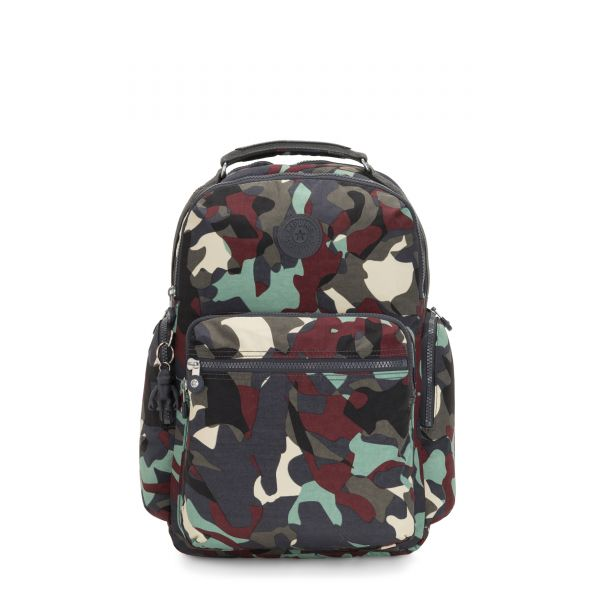 OSHO Camo Large BACKPACKS by Kipling Front