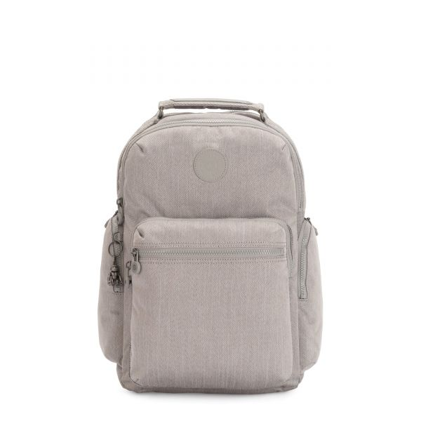 OSHO Grey Beige Peppery BACKPACKS by Kipling Front