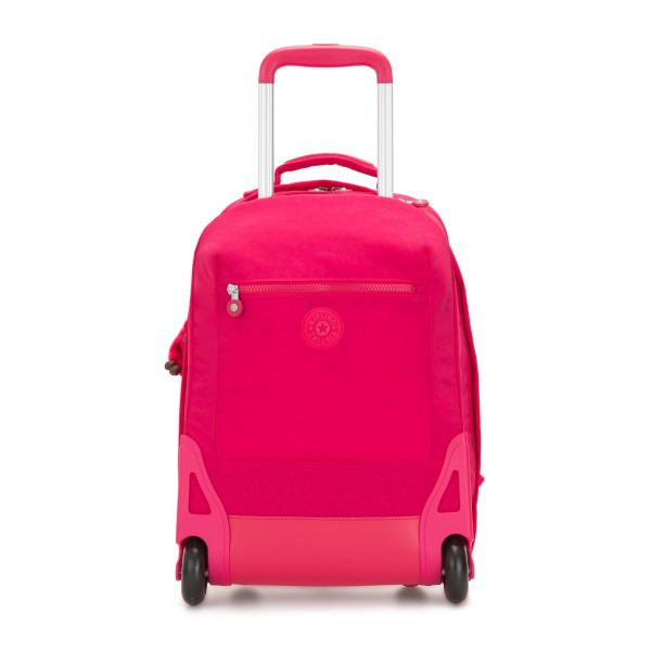 SOOBIN LIGHT True Pink WHEELED BACKPACKS by Kipling Front