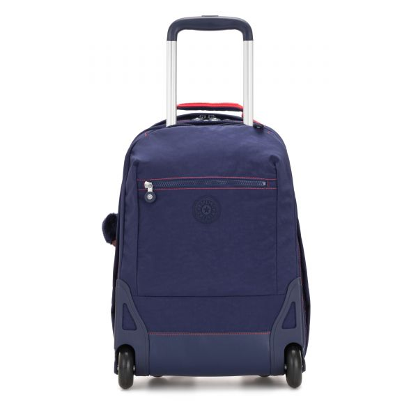 SOOBIN LIGHT Polished Blue C WHEELED BACKPACKS by Kipling Front