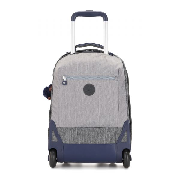 SOOBIN LIGHT Ash Denim Bl WHEELED BACKPACKS by Kipling Front
