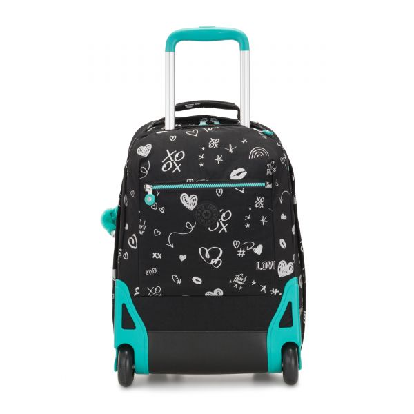 SOOBIN LIGHT Girl Doodle WHEELED BACKPACKS by Kipling Front