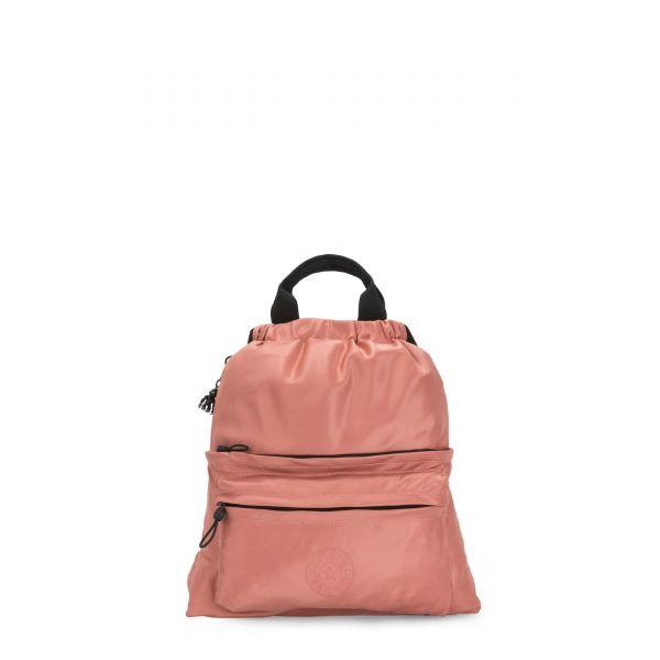 GRETI Satin Rust BACKPACKS by Kipling Front