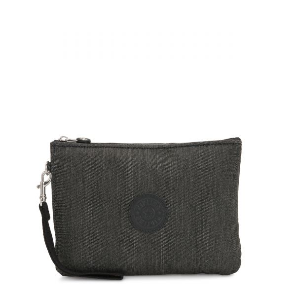 ELLETTRONICO Black Indigo Work POUCHES/CASES by Kipling Front