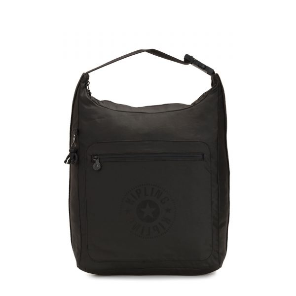MORIE Raw Black BACKPACKS by Kipling Front