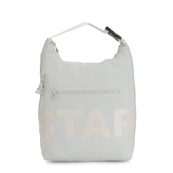 MORIE Plaster Grey BACKPACKS by Kipling Front