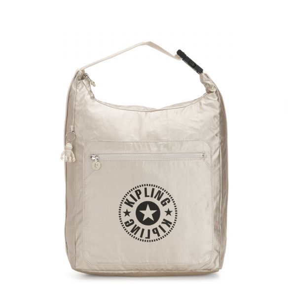 MORIE Cloud Metal Combo BACKPACKS by Kipling Front