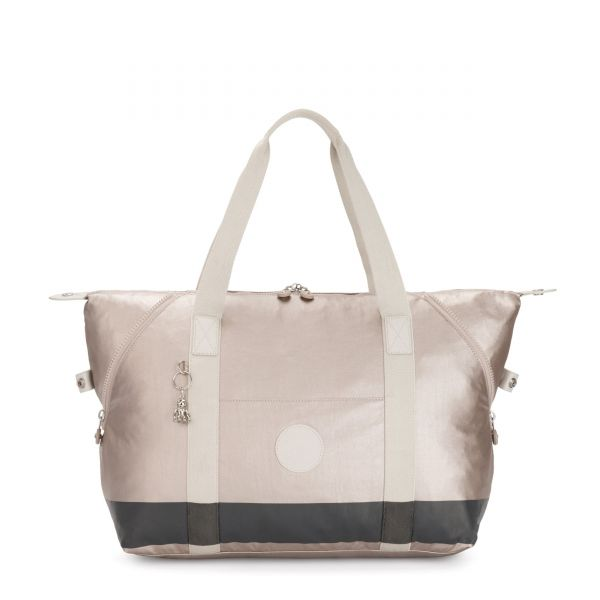 ART M BL Metallic Glow Stripe TOTE by Kipling Front