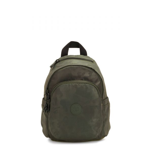 DELIA MINI Satin Camo BACKPACKS by Kipling Front