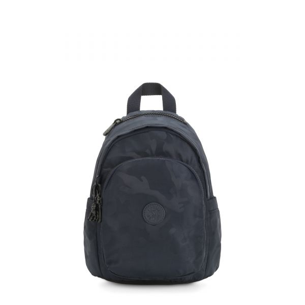 DELIA MINI Satin Camo Blue BACKPACKS by Kipling Front
