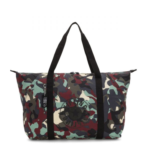 ART PACKABLE Camo Large Light TOTE by Kipling Front
