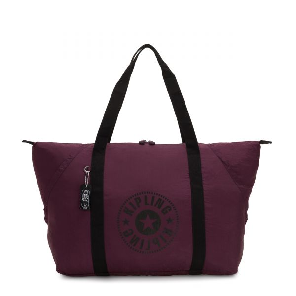 ART PACKABLE Plum Light TOTE by Kipling Front