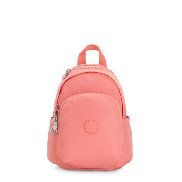 DELIA MINI Coral Pink BACKPACKS by Kipling Front