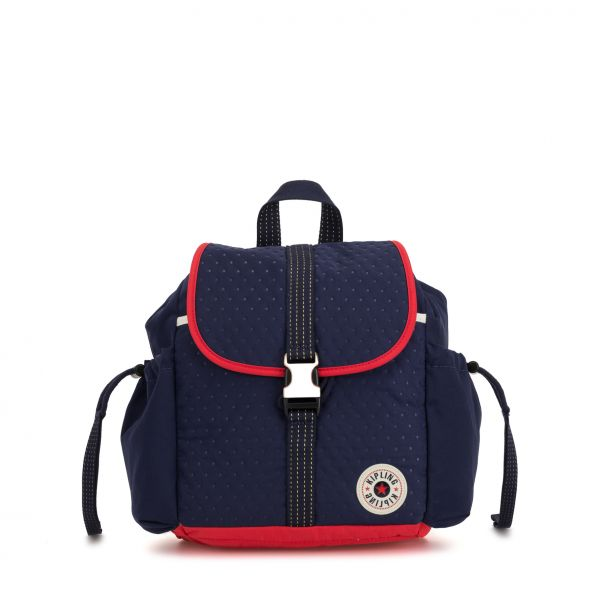 ESILE Strong Blue Emb BACKPACKS by Kipling Front