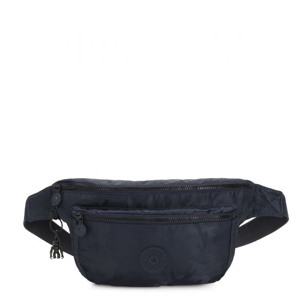 YASEMINA XL Satin Camo Blue CROSSBODY by Kipling Front