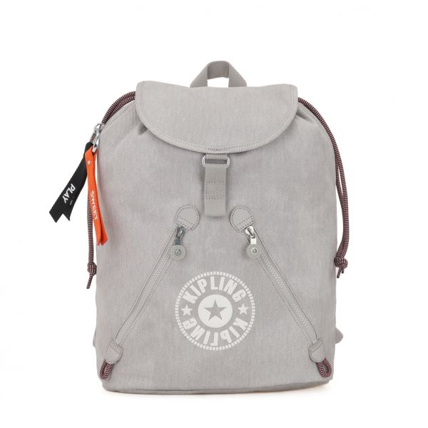 FUNDAMENTAL Light Denim BACKPACKS by Kipling Front