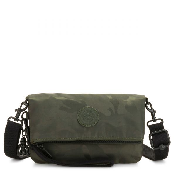 LYNNE Satin Camo CROSSBODY by Kipling Front