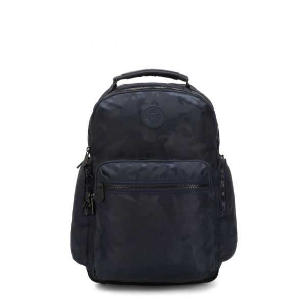 OSHO Satin Camo Blue BACKPACKS by Kipling Front