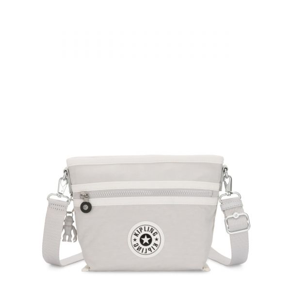 MENTA Curiosity Grey Combo SHOULDERBAGS by Kipling Front