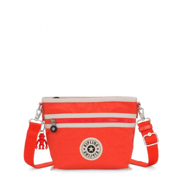 MENTA Rapid Red Combo SHOULDERBAGS by Kipling Front