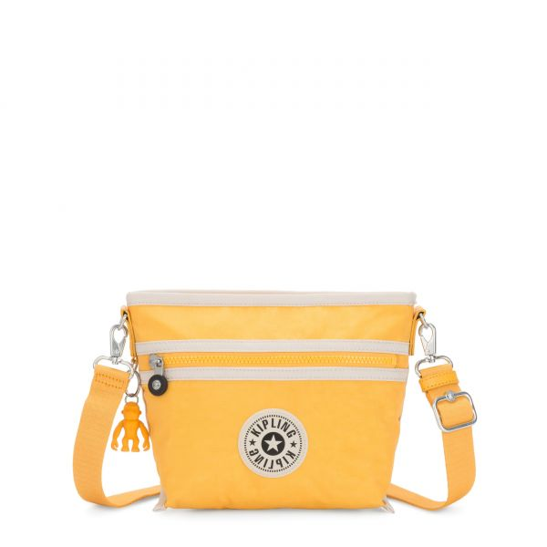 MENTA Vivid Yellow Combo SHOULDERBAGS by Kipling Front