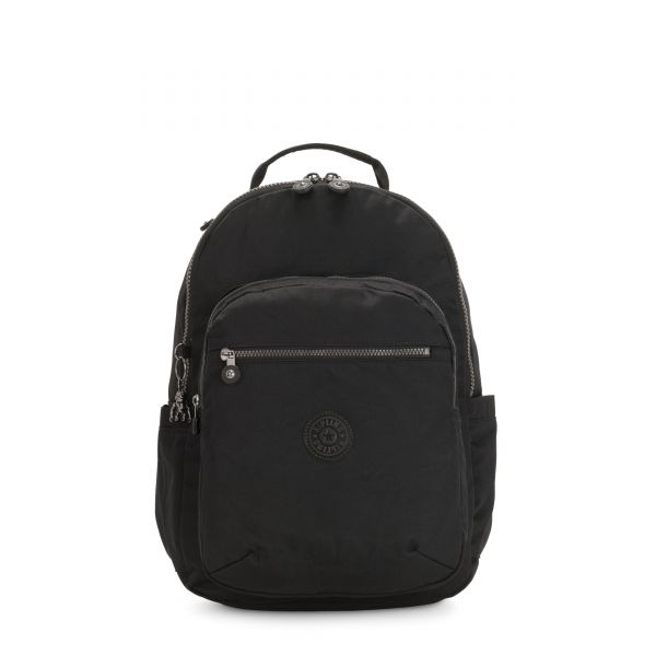 SEOUL Rich Black BACKPACKS by Kipling Front