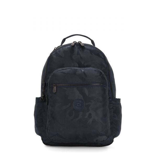 SEOUL Satin Camo Blue BACKPACKS by Kipling Front