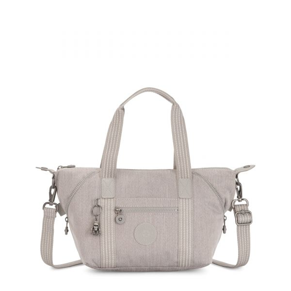 ART MINI Grey Beige Peppery SHOULDERBAGS by Kipling Front