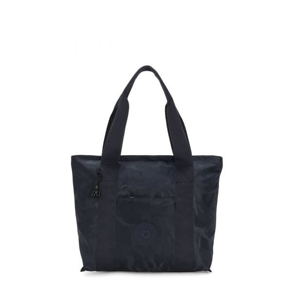 ERA S Satin Camo Blue TOTE by Kipling Front