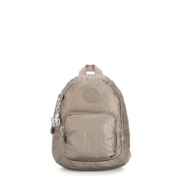 GLAYLA Metallic Pewter Gifting BACKPACKS by Kipling Front